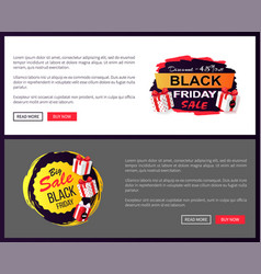 black friday sale promo sticker advertising coupon vector image