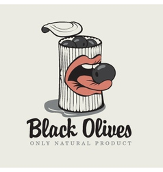 Black olives vector