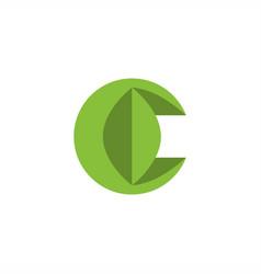 C leaf logo vector