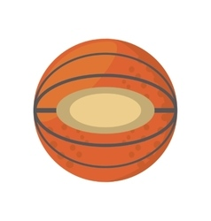 Cartoon basketball ball sport school team vector