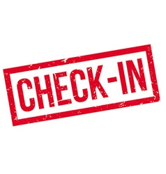 Check-in rubber stamp vector image