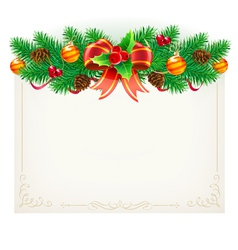 christmas decorative frame vector image