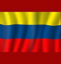 Colombia 3d realistic wavy national flag vector