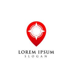 compass logo design location icon symbol vector image