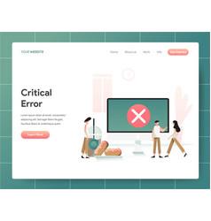 computer critical error concept modern design vector image