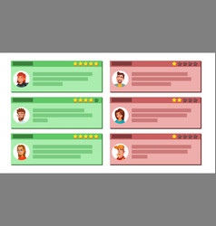Customer feedback good and bad feedback vector
