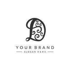 d letter logo design template vector image