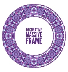 Decorative ornate round frame in Victorian style vector image