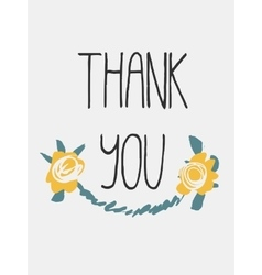 Decorative Thanks Card vector image vector image