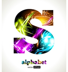 Design Abstract Letter S vector image