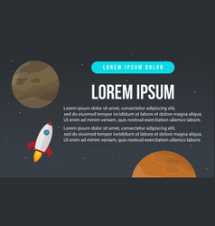 Design business infographic with rocket vector