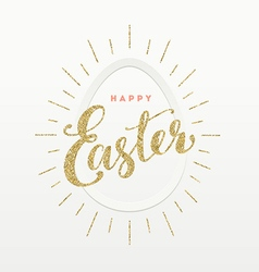 Easter Greeting card Glitter gold type design and vector image vector image