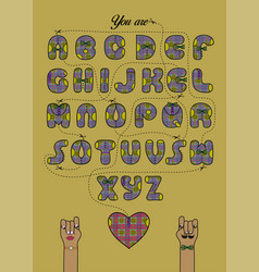 Encrypted romantic message you are so awsome vector
