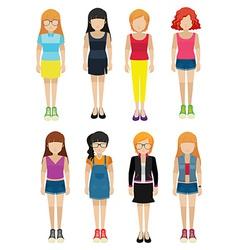 Faceless ladies vector