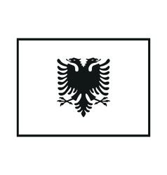 Flag of Albania on white background vector