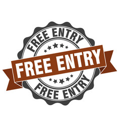 Free entry stamp sign seal vector