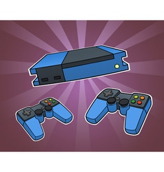 Game console vector image