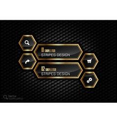Golden Hexagons vector image