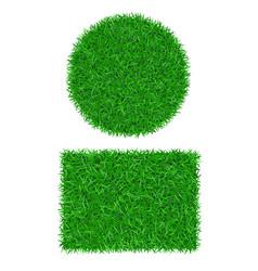 Green grass background 3d set lawn greenery vector