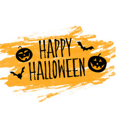 Happy halloween yellow watercolor abstract vector