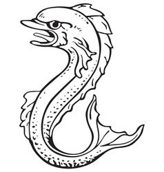 heraldic dolphin No2 vector image