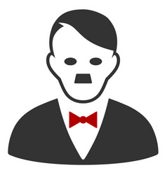 Hitler manager flat icon vector