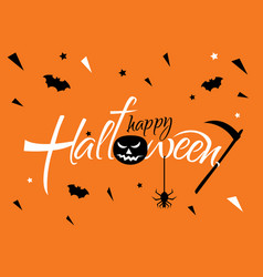 horizontal banner for a halloween party vector image