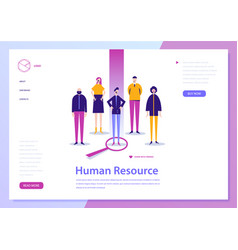 Human resouce hr con ept landing page vector
