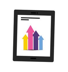 infographic inside tablet design vector image