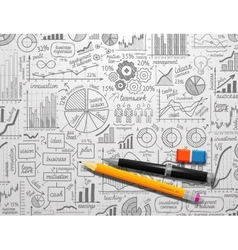 infographics collection hand drawn doodle sketch vector image