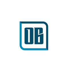 initial letter logo ob template design vector image