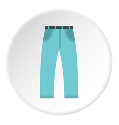 Jeans icon circle vector