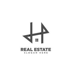 Letter h home logo design template vector