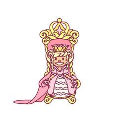 Little princess queen vector