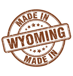 Made in wyoming vector