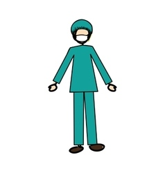 Medical doctor physician icon image vector