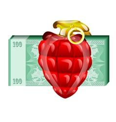 money risk vector image
