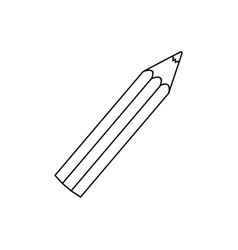 Monochrome silhouette of little school pencil vector