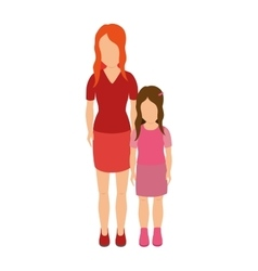 mother with daughter character vector image