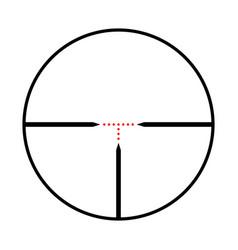 Ooptical sight a sniper gun from black lines vector