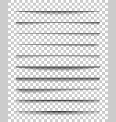 Page divider with transparent shadows set of vector