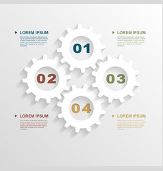 paper gears infographic vector image