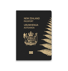Passport new zealand citizen id template vector