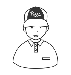 Pizza guy hat icon vector