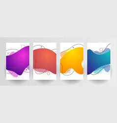 Plastic liquid gradient waves sale banner template vector