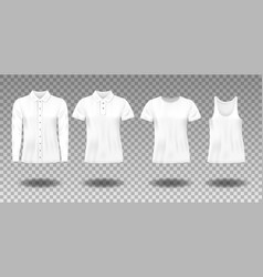 realistic blank uniform template sleeveless t vector image