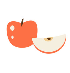 Red apple cartoon isolated vector