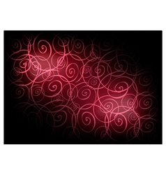 Red Vintage Wallpaper with Spiral Pattern vector image