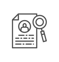 resume job search employability employee vector image