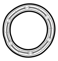 Round doodle border frame vector image
